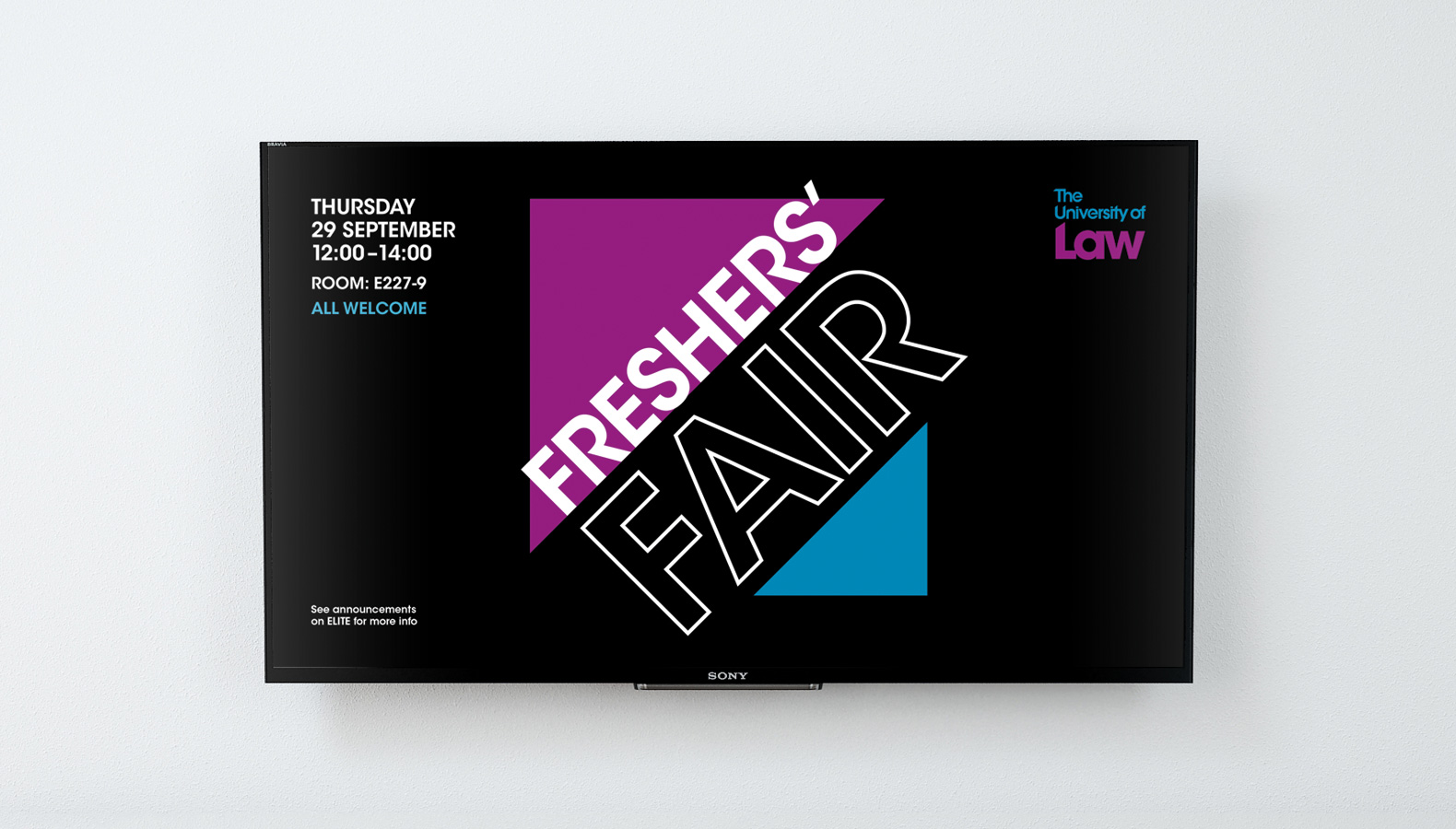 The University of Law – Freshers' Campaign